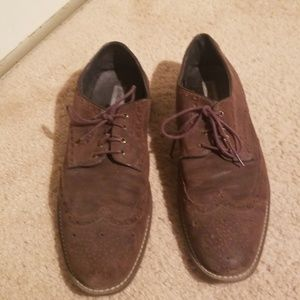 Johnson and murphy 12 wingtip brown suede shoes